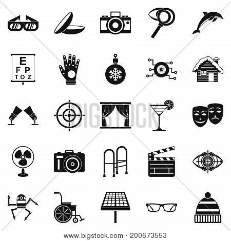 Specs icons set. Simple set of 25 specs vector icons for web isolated on white background stock photo