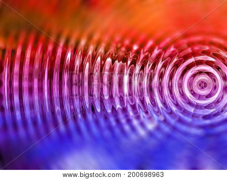 Resonate ,spread, vibration or ripple abstract stock photo