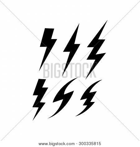 Flash icon. Bolt of lightning vector. Lightning illustration. Streak of lightning sign. Electric bolt flash icon. Lightning design element stock photo