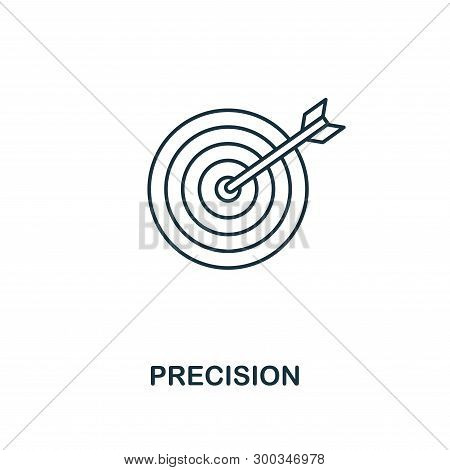 Precision icon. Outline style thin design from business icons collection. Pixel perfect simple pictogram precision icon for UX and UI. stock photo
