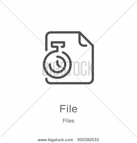 file icon isolated on white background from files collection. file icon trendy and modern file symbol for logo, web, app, UI. file icon simple sign. file icon flat vector illustration for graphic and web design. stock photo