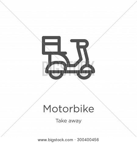 motorbike icon isolated on white background from take away collection. motorbike icon trendy and modern motorbike symbol for logo, web, app, UI. motorbike icon simple sign. motorbike icon flat vector illustration for graphic and web design. stock photo