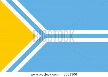 very big size tuva people republic flag stock photo