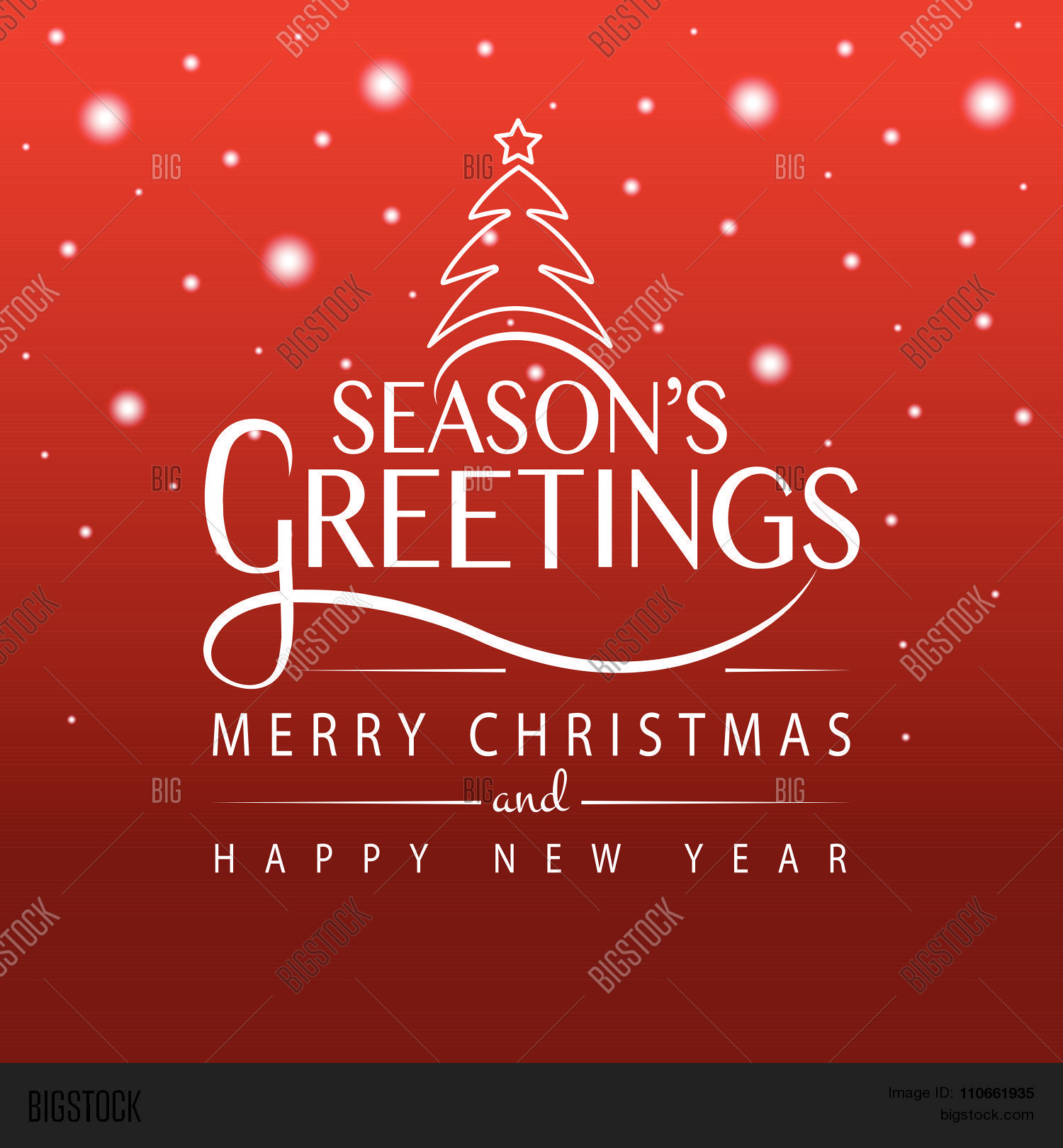 Happy Holidays Typography For Christmasnew Year Greeting Card