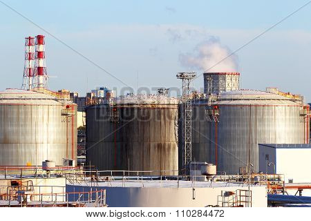 Production, sale and storage of oil products in the industry. stock photo