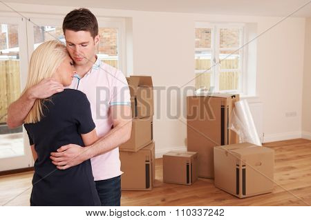 Young Couple Forced To Sell Home Through Financial Problems stock photo