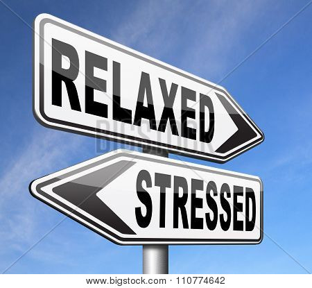 relaxed stressed therapy to take it easy relax and be stress free assessment and management stock photo