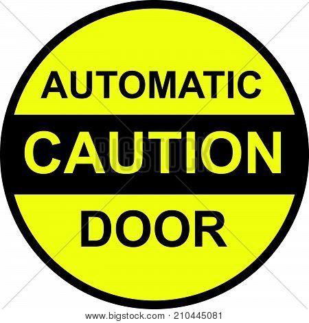 Caution automatic door vector icon clip-art image stock photo