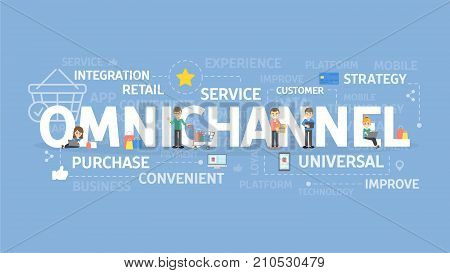 Omnichannel concept illustration. Idea of service, strategy and integration. stock photo
