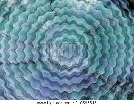 Resonate ,spread, vibration or ripple abstract in blue wavy circles. stock photo