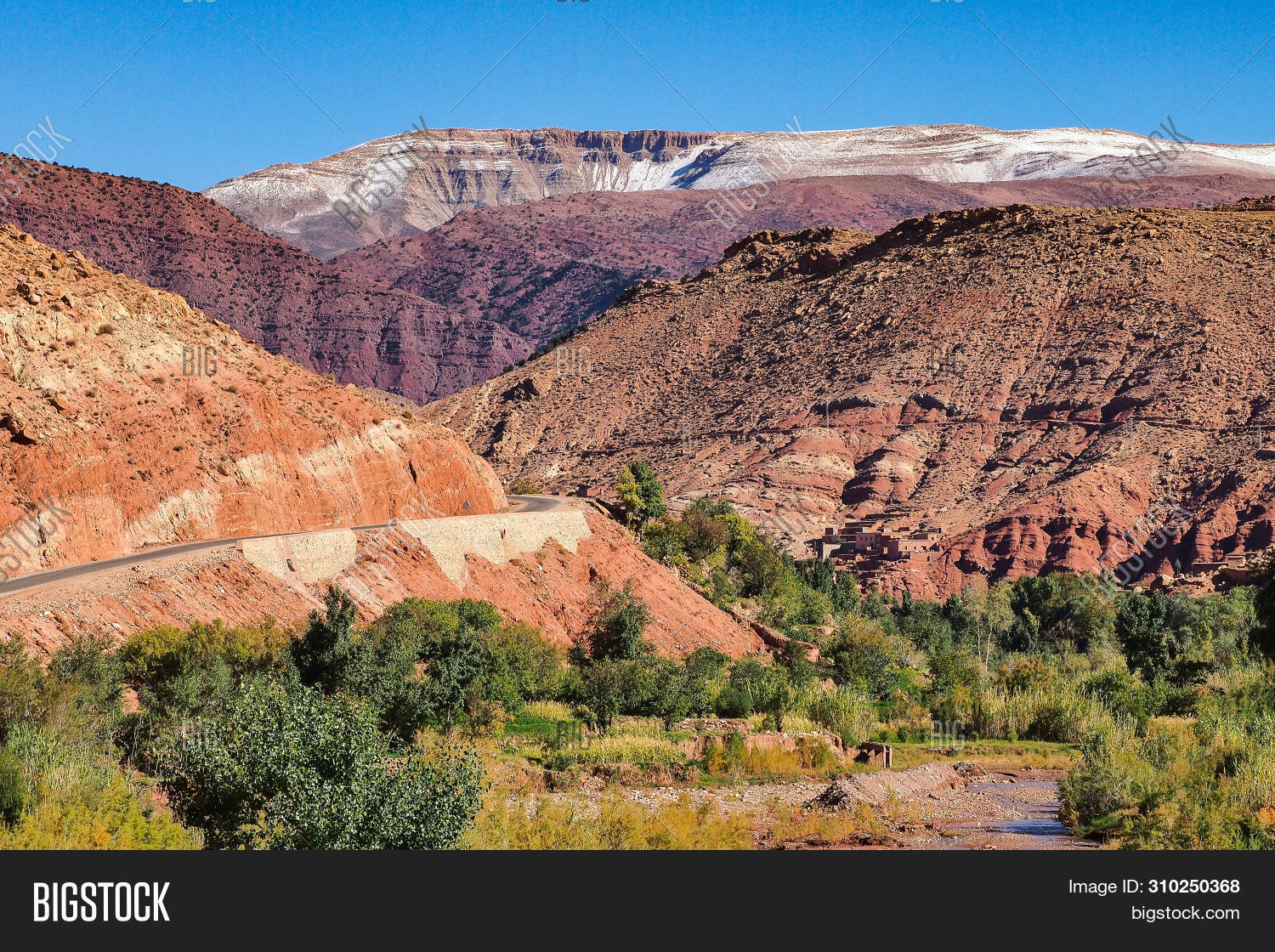 Landscape Of The Atlas Mountains In Morocco In Africa