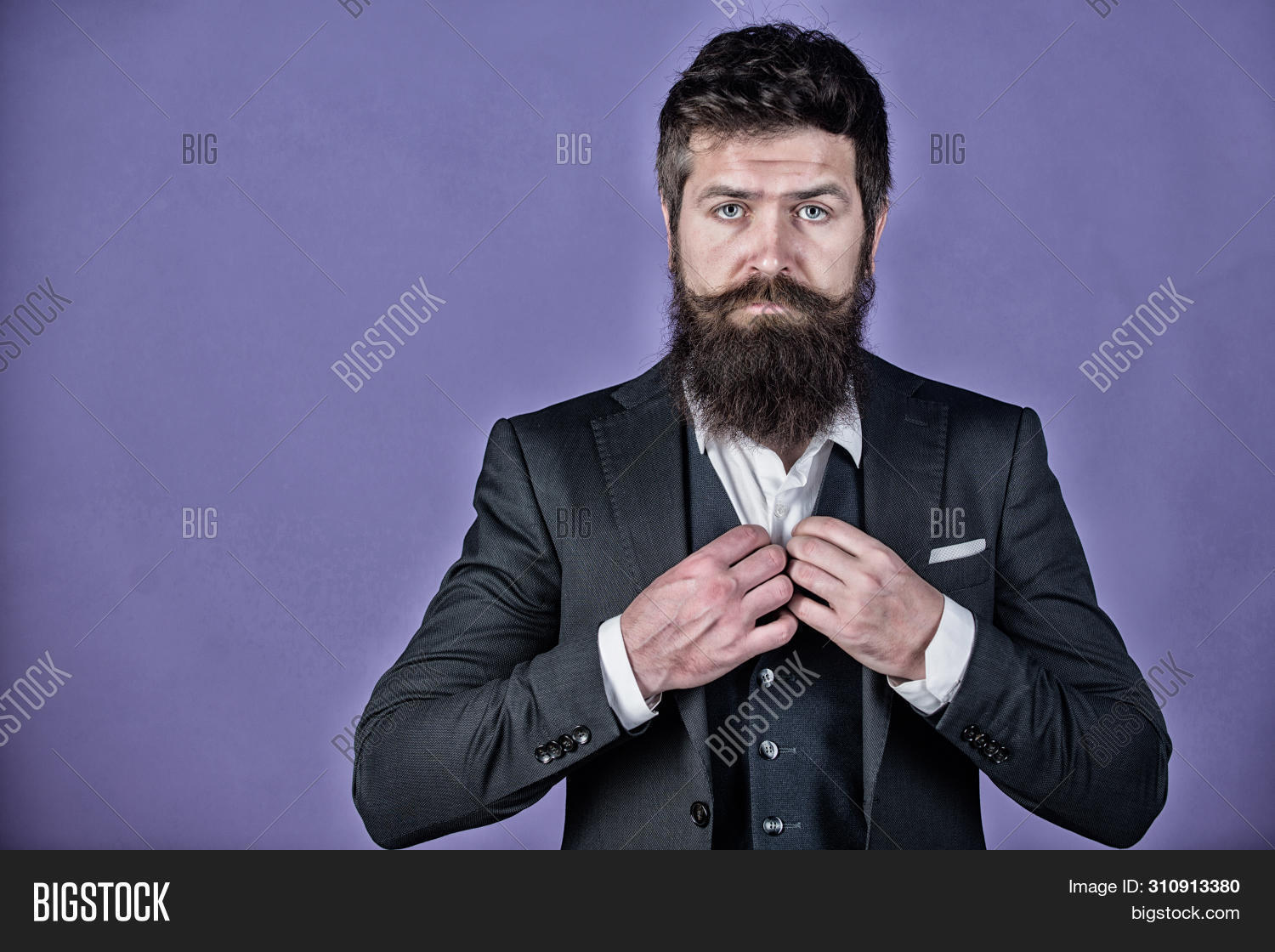 Everything Must Be Perfect. Businessman In Suit. Brutal Caucasian Hipster. Mature Hipster With Beard