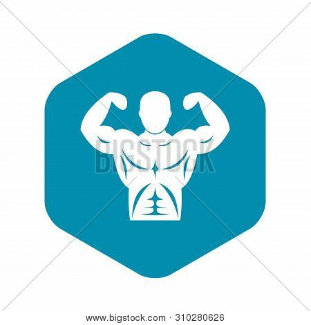 Athletic man torso icon. Simple illustration of athletic man torso vector icon for web stock photo