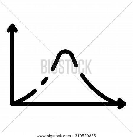 Gauss histogram function graph icon. Outline gauss histogram function graph vector icon for web design isolated on white background stock photo