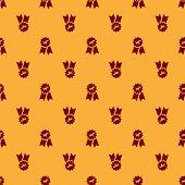 Dog Show Winner Ribbon Rosette Mouse Pad ID:85411682