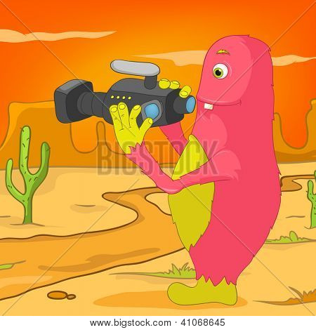 Cartoon Character Funny Monster. Vector Illustration. EPS 10. stock photo