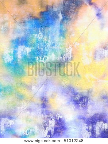 Abstract textured background: blue and yellow patterns. for art texture, grunge design, and vintage