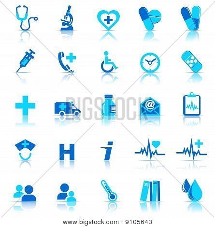 vector and bitmap healthcare & pharma icons, for use in your products and presentations. stock photo