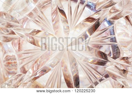 Close Up of Detail of a Crystal Glass. Abstract Background. stock photo