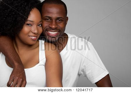 Black Couple stock photo