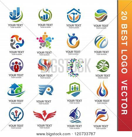 Best Business Corporate Logo Set