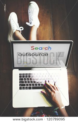 Outsource Task Contract Work Supplier Concept stock photo