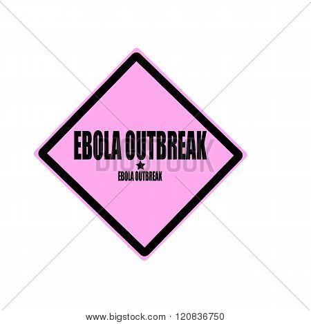 Ebola outbreak black stamp text on pink background stock photo