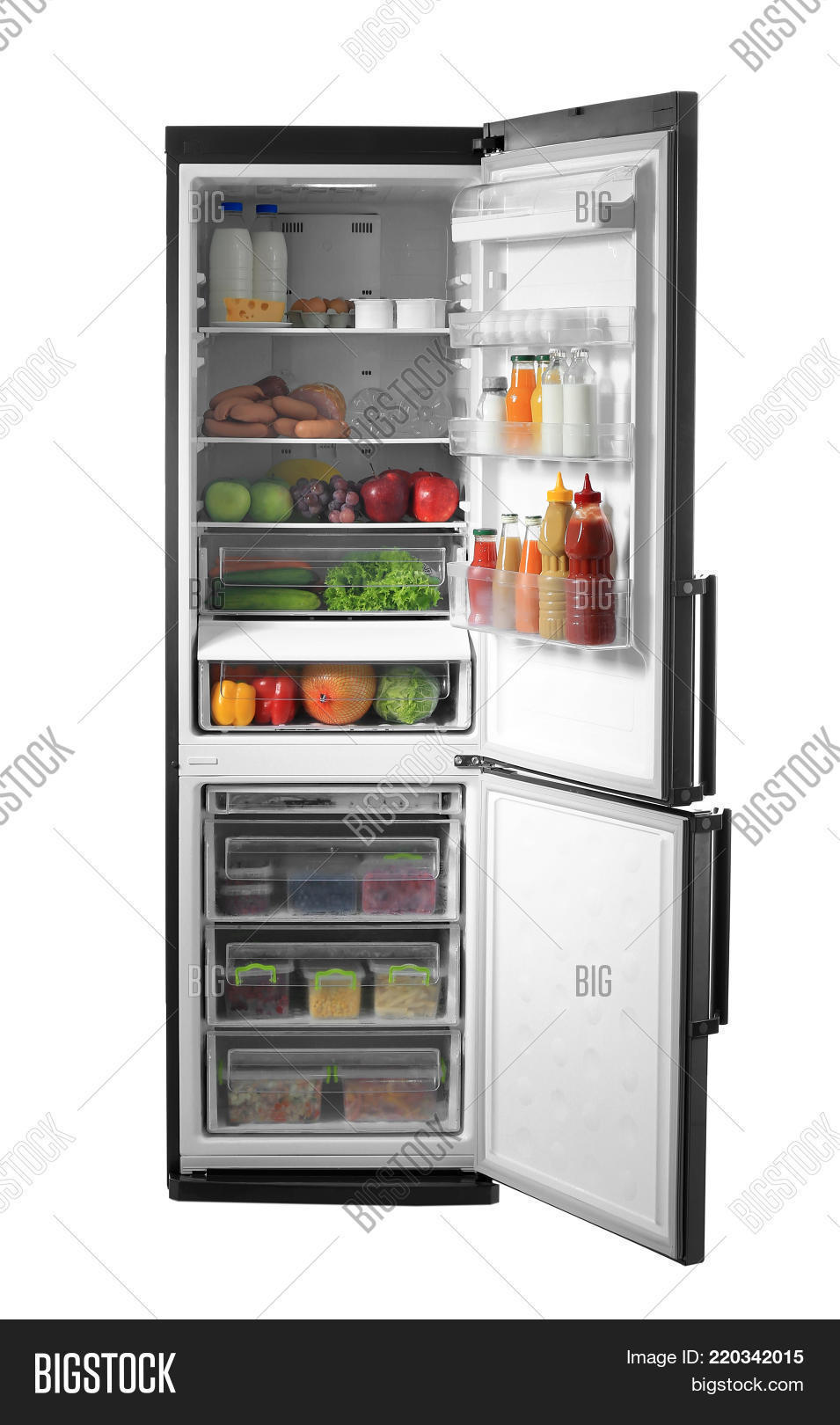 appliance,assortment,background,cold,cook,cool,dairy,different,domestic,door,drink,eat,electric,food,freeze,freezer,freshness,fridge,frost,fruits,full,healthy,home,household,icebox,isolated,keep,kitchen,light,meat,modern,object,open,organize,products,refrigeration,refrigerator,safety,sausage,shelf,shelves,storage,tasty,various,vegetables,view,vitamins,white