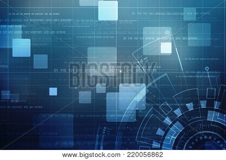 Digital Abstract technology background, cyber background, futuristic background stock photo
