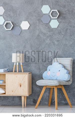 Grey Kid\'s Room