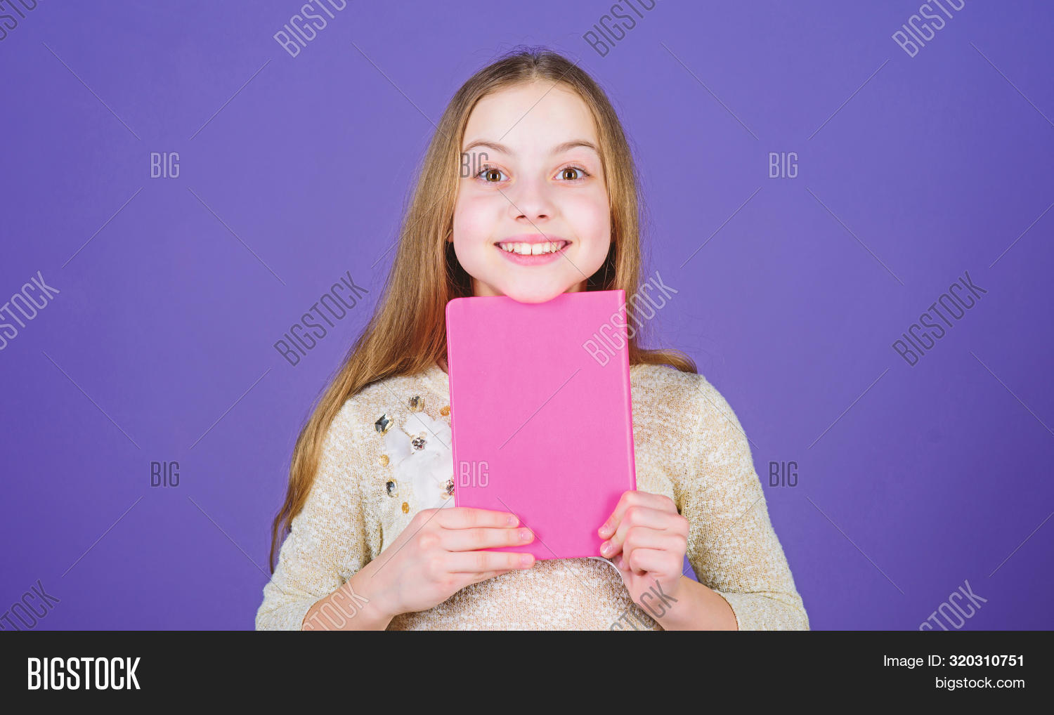 Study What You Love And Intern In What You Want To Do. Adorable Little Girl Holding Study Book With