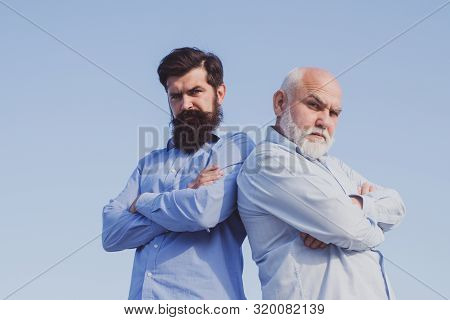 Men generation. Family generation: future dream and people concept. Male multi generation family. Male multi generation portrait stock photo