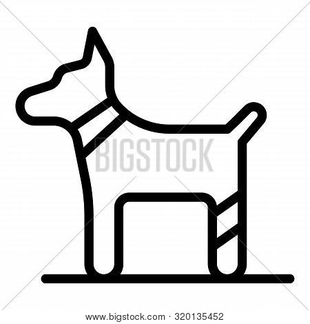 Dog bandaged paw icon. Outline dog bandaged paw vector icon for web design isolated on white background stock photo