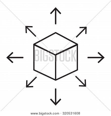 distribution icon on white background. flat style. distribution box icon for your web site design, logo, app, UI. content distribution concept symbol. black distribution sign. stock photo