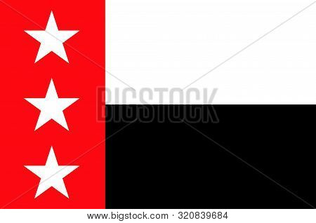 Flag of Laredo is the county seat of Webb County, Texas, United States. Vector illustration stock photo