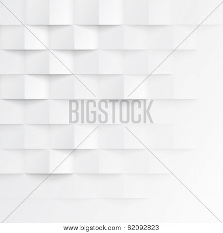 Abstract 3d white geometric background. White seamless texture with shadow. Simple clean white backg