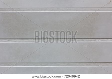 dirty gray wall background or texture with horizontal strips. stock photo