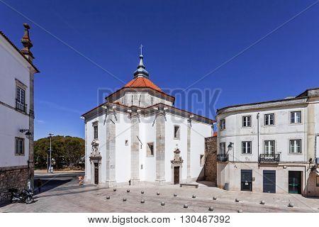 Nossa Senhora da Piedade Church. 17th century Mannerist church, in Santarem, Portugal stock photo