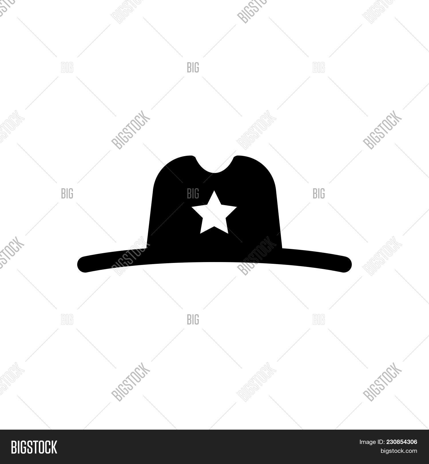 b8290658 🔥 Sheriff Hat Vector Icon On White Background. Sheriff Hat Modern ...