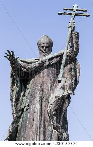 Cardinal Lavigerie Statue in Bayonne, south west France stock photo
