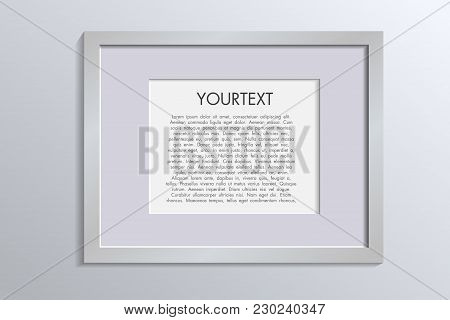3d Picture Frame Design Vector For A4 Image Or Text Colour