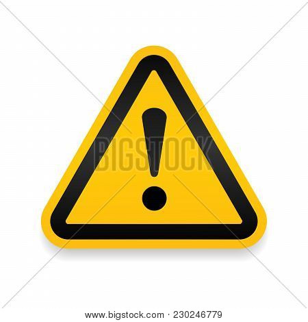 Yellow Warning Dangerous Attention Icon Icon, Danger Symbol, Filled Flat Sign, Solid Pictogram, Isol
