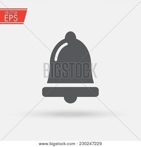 Bell notification icon vector, News and updates symbol, Alarm, service bell, handbell sign Trendy Flat style for graphic design, logo, Web site, social media, UI, mobile application. stock photo