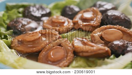 Delicious abalone, chinese cuisine  stock photo