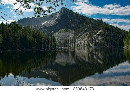 Louie Lake, located in central Idaho near the town of McCall. stock photo