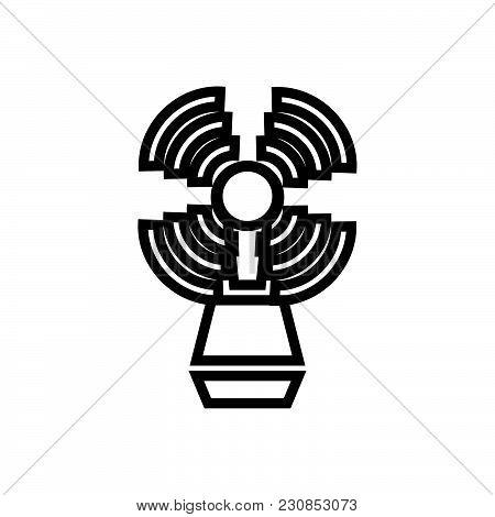 seamark, beacon symbol, beacon vector icon, beacon image jpg stock photo