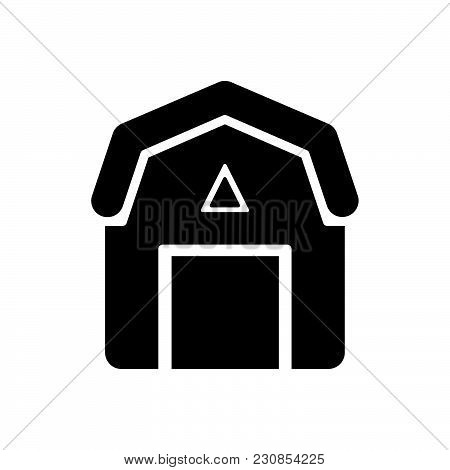 barn vector icon on white background. barn modern icon for graphic and web design. barn icon sign for logo, website, app, ui. barn flat vector icon illustration, EPS10 stock photo
