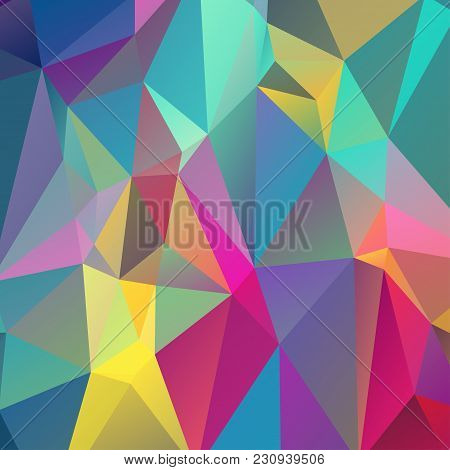 Abstract triangulation background. Bright. Texture. Color. For your design. stock photo