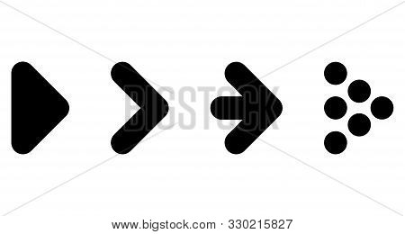 Set of black arrow. Black arrows. Arrow stock photo