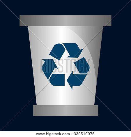 recycling bin icon in two color design style. recycling bin vector icon modern and trendy flat symbol for web site, mobile, app, logo, UI. recycling bin colorful isolated icon on white background. recycling bin icon simple vector illustration stock photo